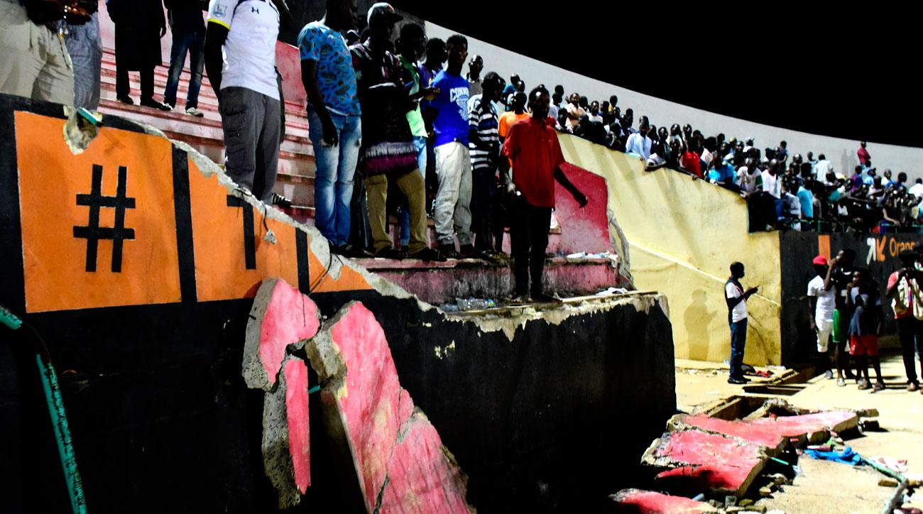 A stampede at a soccer stadium in Senegal killed eight people