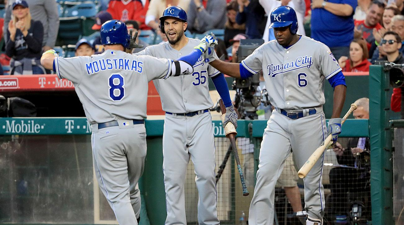 Mike Moustakas, Eric Hosmer and Lorenzo Cain, Kansas City Royals