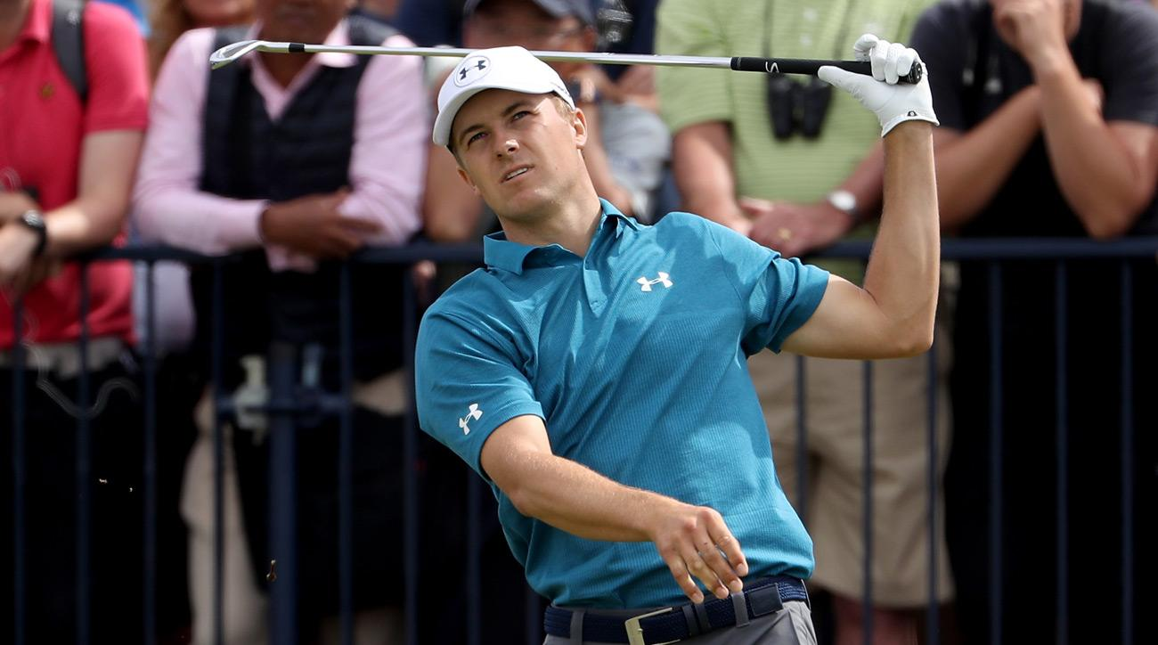 Jordan Spieth struggled mightily early in the final round of the 2017 British Open.
