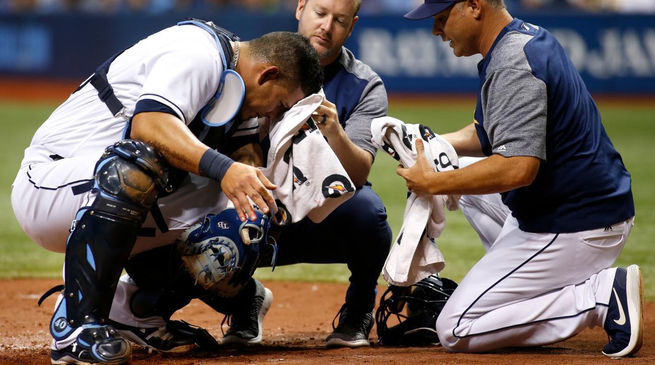 Wilson Ramos injury: Rays C cut by bat, gets six staples