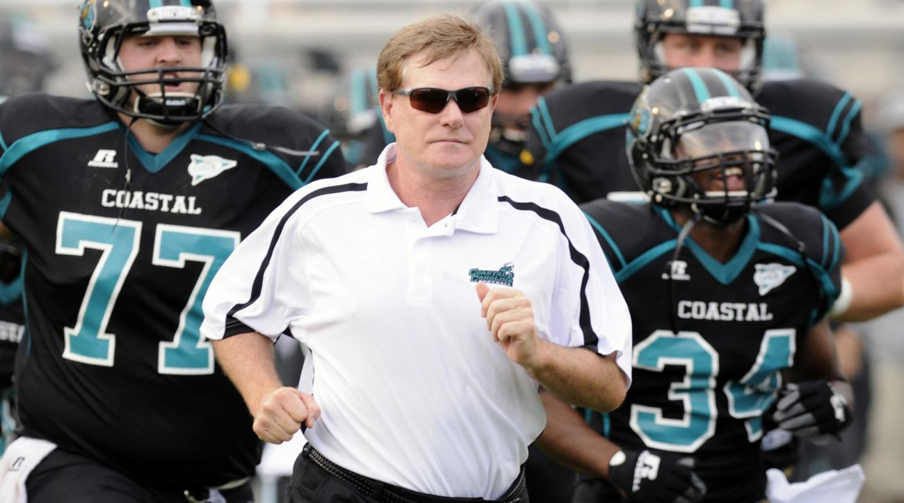 Coastal Carolina's Joe Moglia to miss season; Jamey Chadwell named interim coach