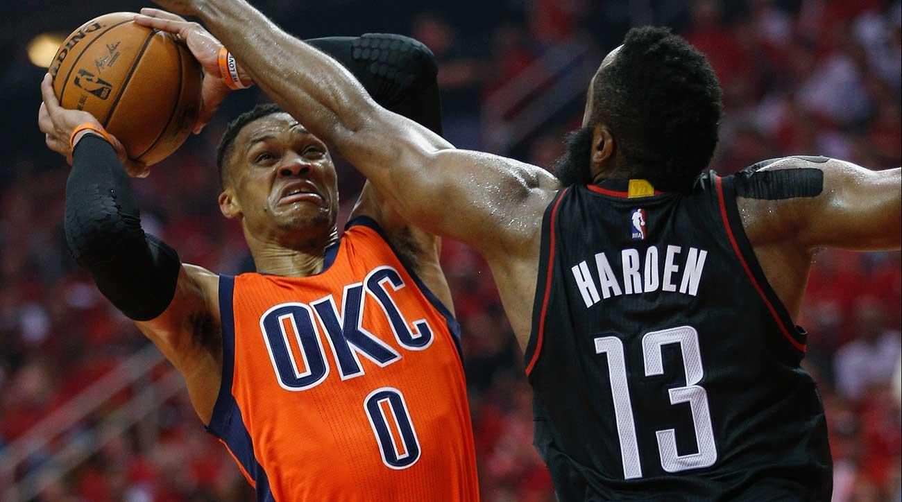 James Harden and Russell Westbrook
