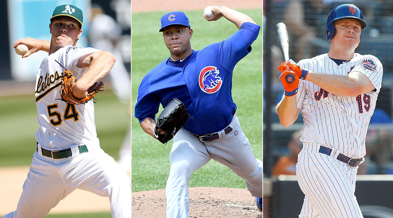 Sonny Gray, New York Yankees; Jose Quintana, Chicago Cubs; Jay Bruce, New York Mets