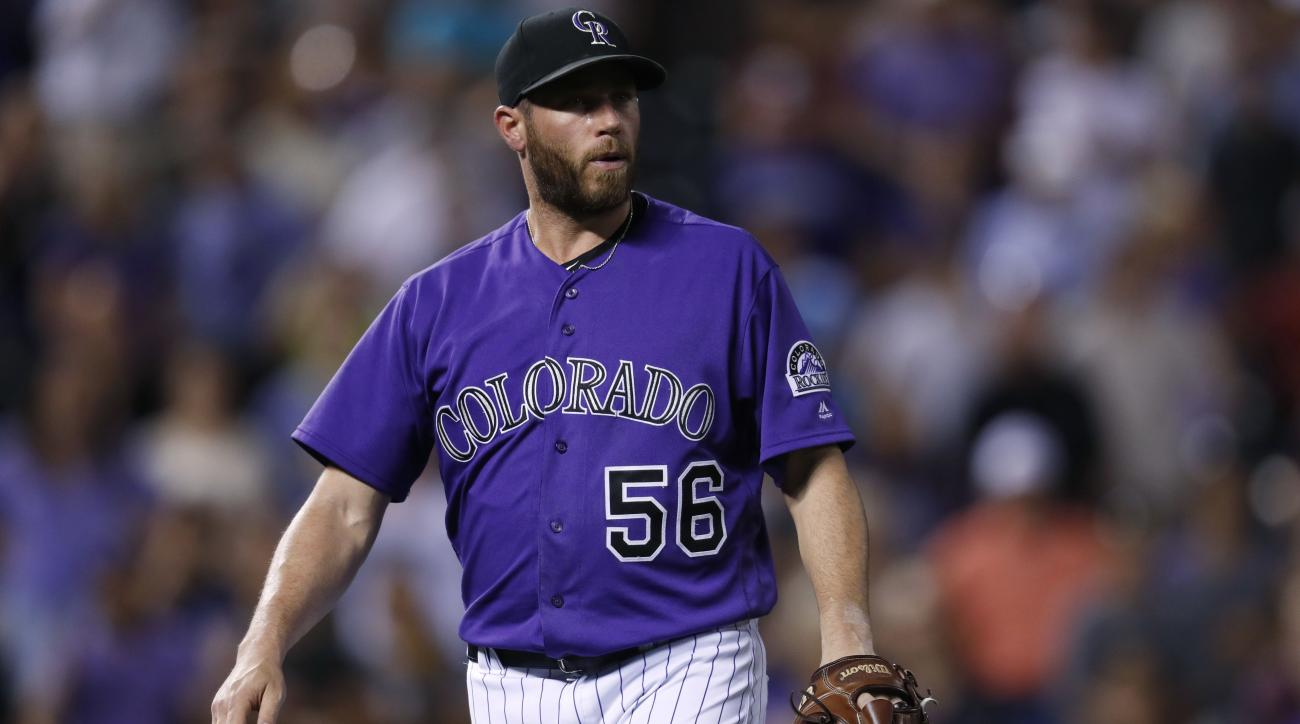 Rockies closer leads Major League Baseball in saves, and in freak kitchen accidents