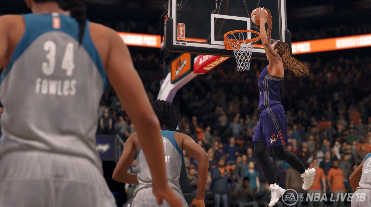 EA Sports to feature WNBA teams, players on 'NBA Live 18' release