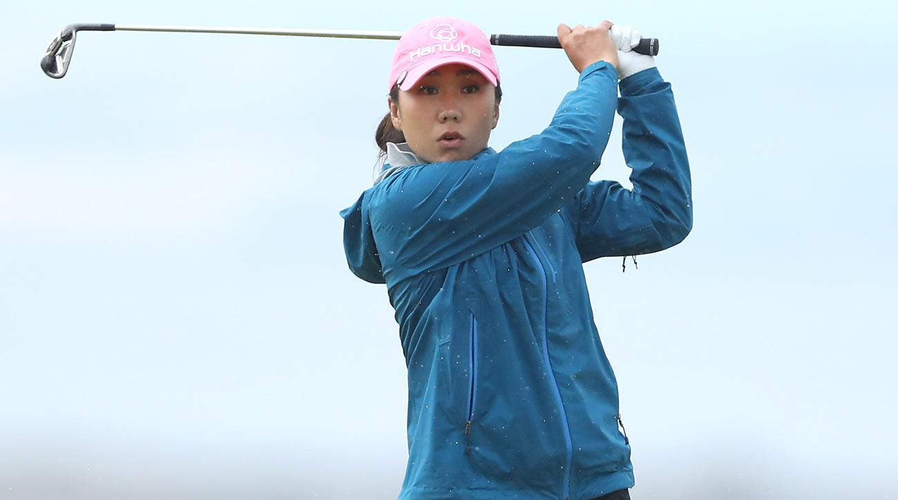 I.K. Kim will attempt to close out her first career major title Sunday at Kingsbarns.