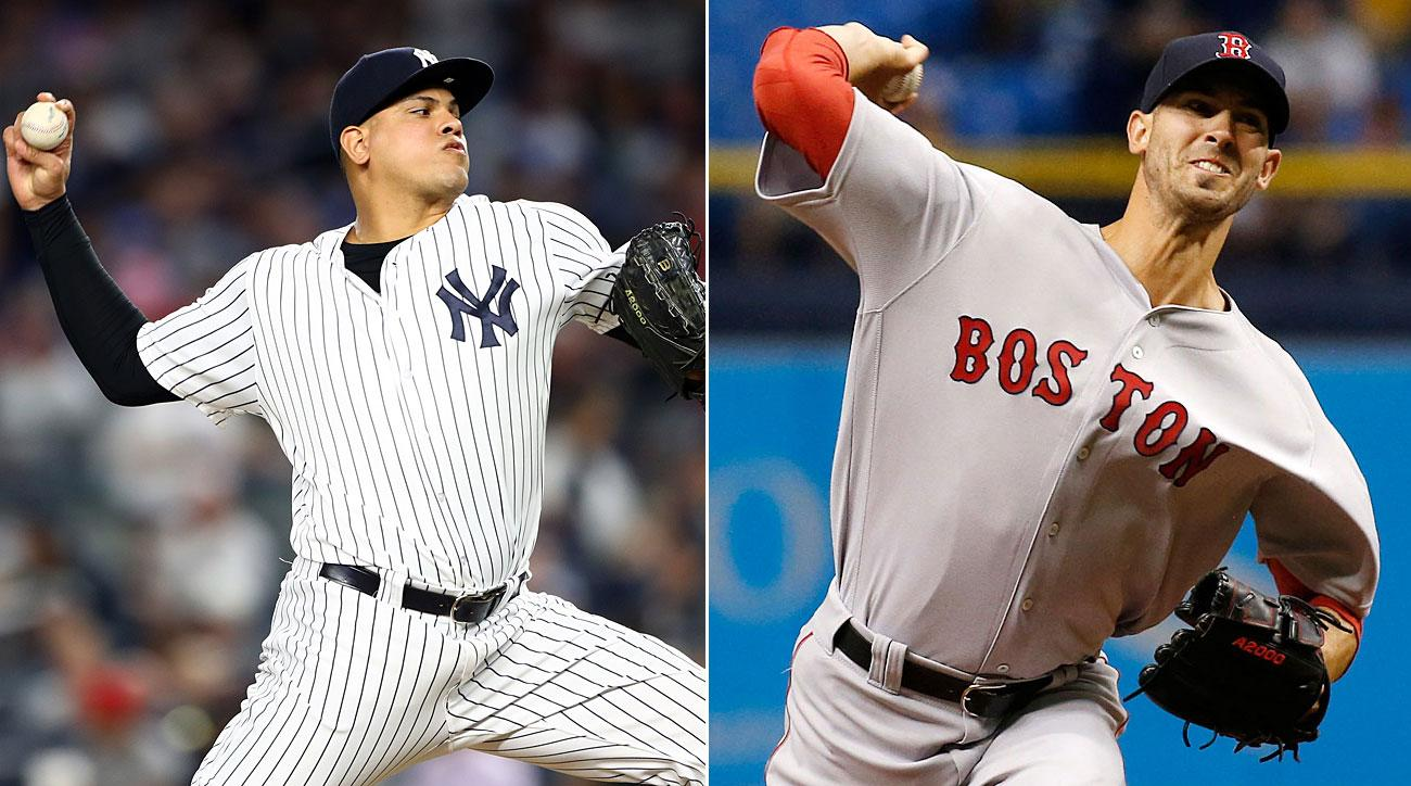 Dellin Betances, New York Yankees; Rick Porcello, Boston Red Sox