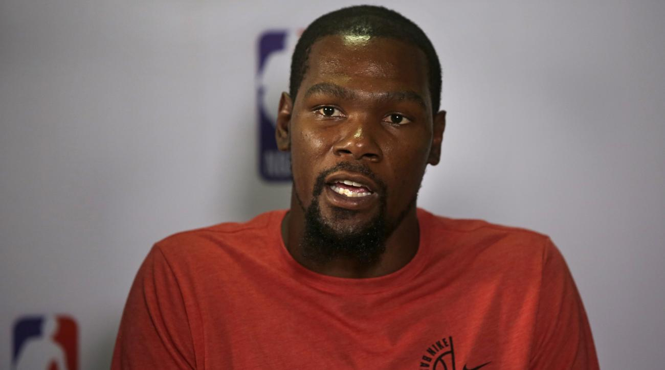 Kevin Durant spoke with The Athletic about his decision to take a pay cut.