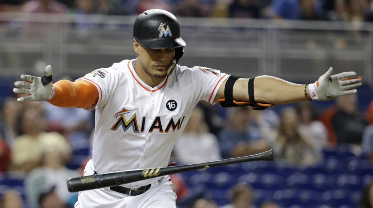 Giancarlo Stanton crushed his 39th home run of the season on Thursday night.