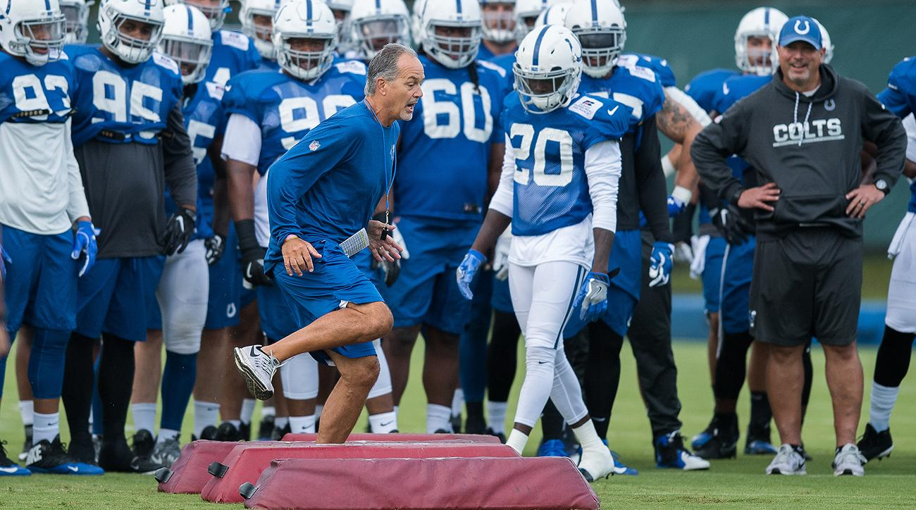 Chuck Pagano is entering his sixth season as the Colts head coach.
