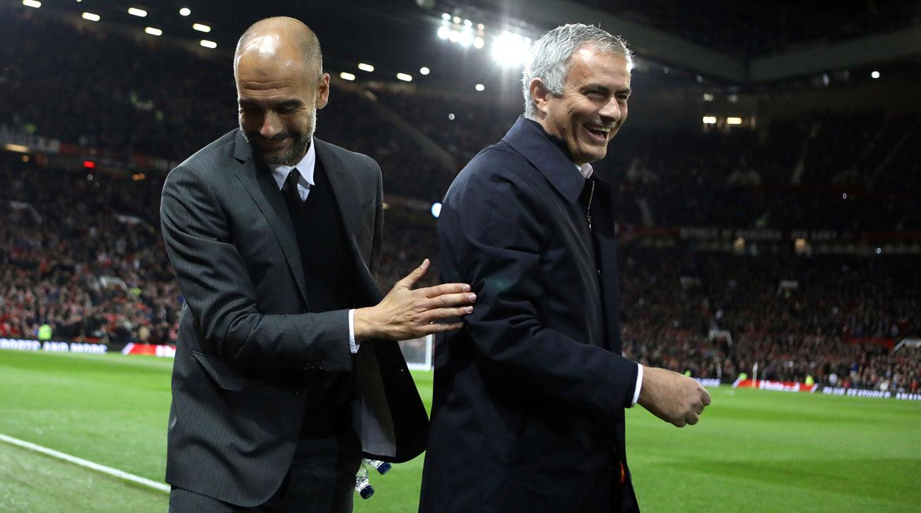 Image result for mourinho and pep