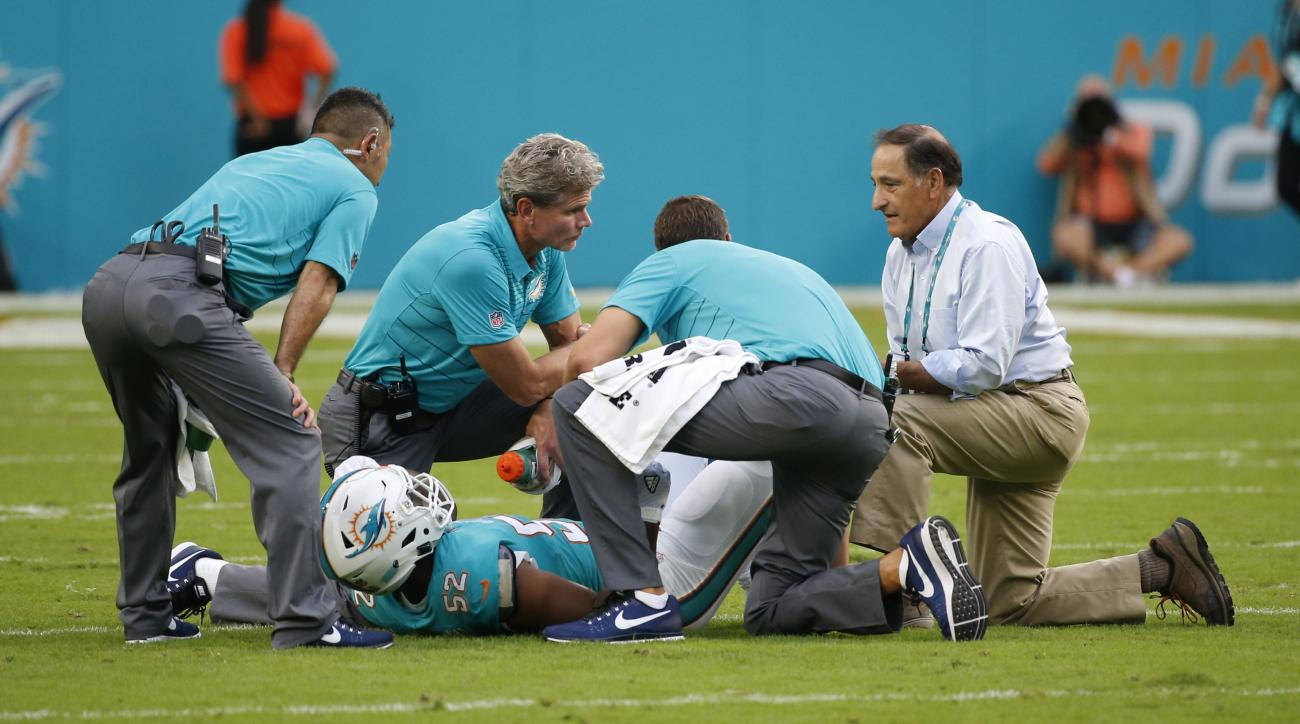 Dolphins rookie LB McMillan out for season with ACL tear