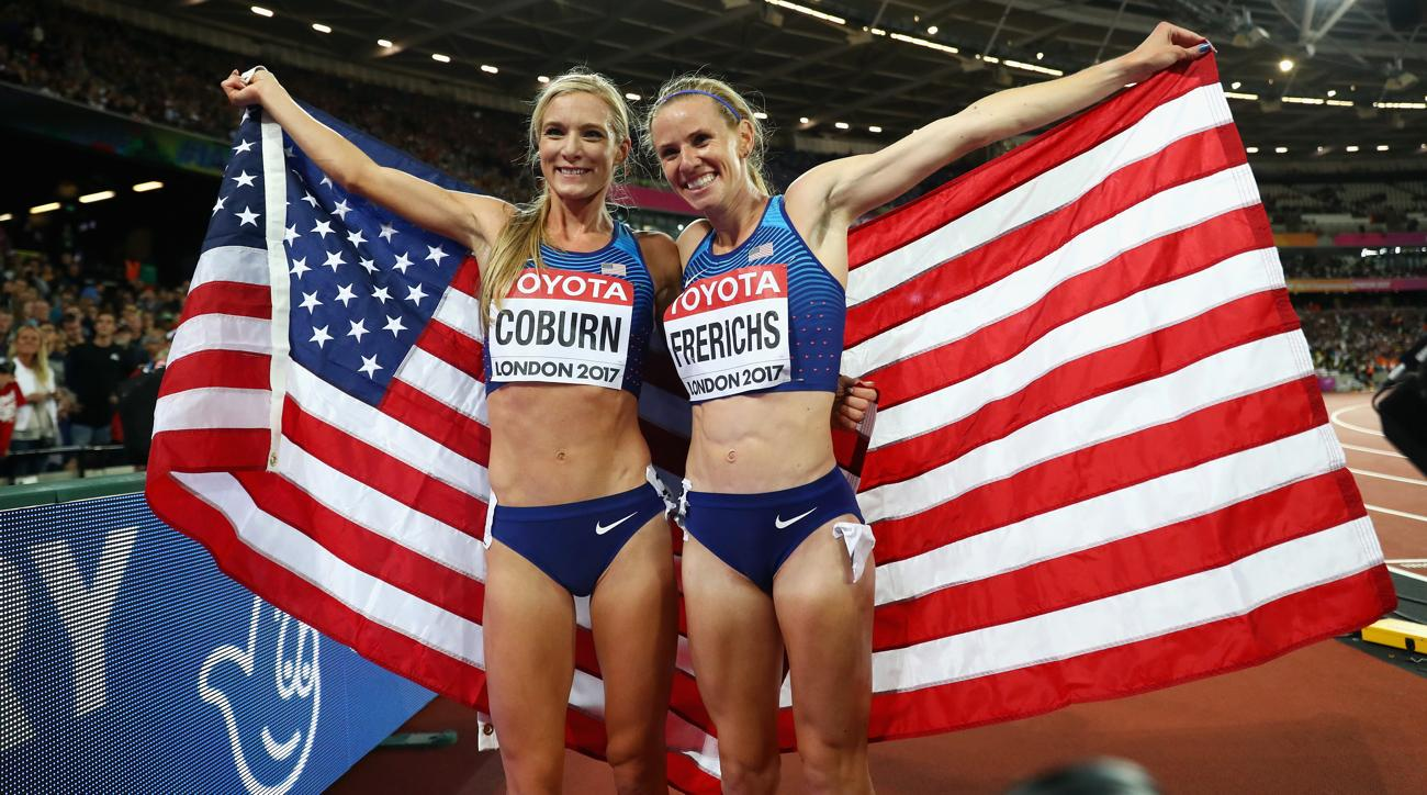 Americans Emma Coburn, Courtney Frerichs 1-2 in women's steeplechase