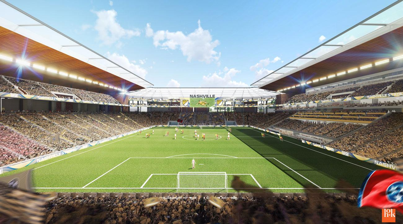 Nashville's proposed MLS stadium for its expansion bid