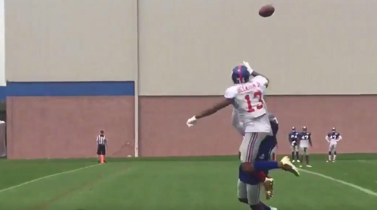 Odell Beckham Jr. Makes One-Handed Catch Over Janoris Jenkins