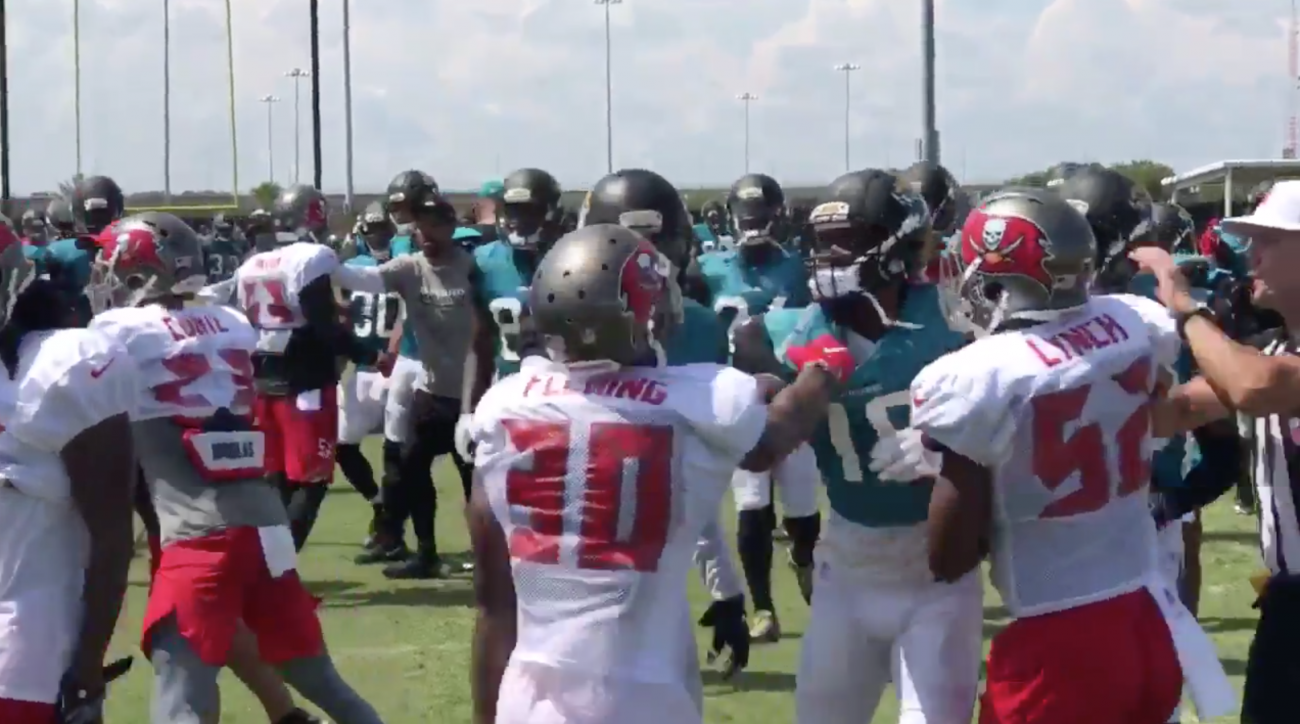 Buccaneers, Jaguars Involved in Multiple Fights During Joint Practice