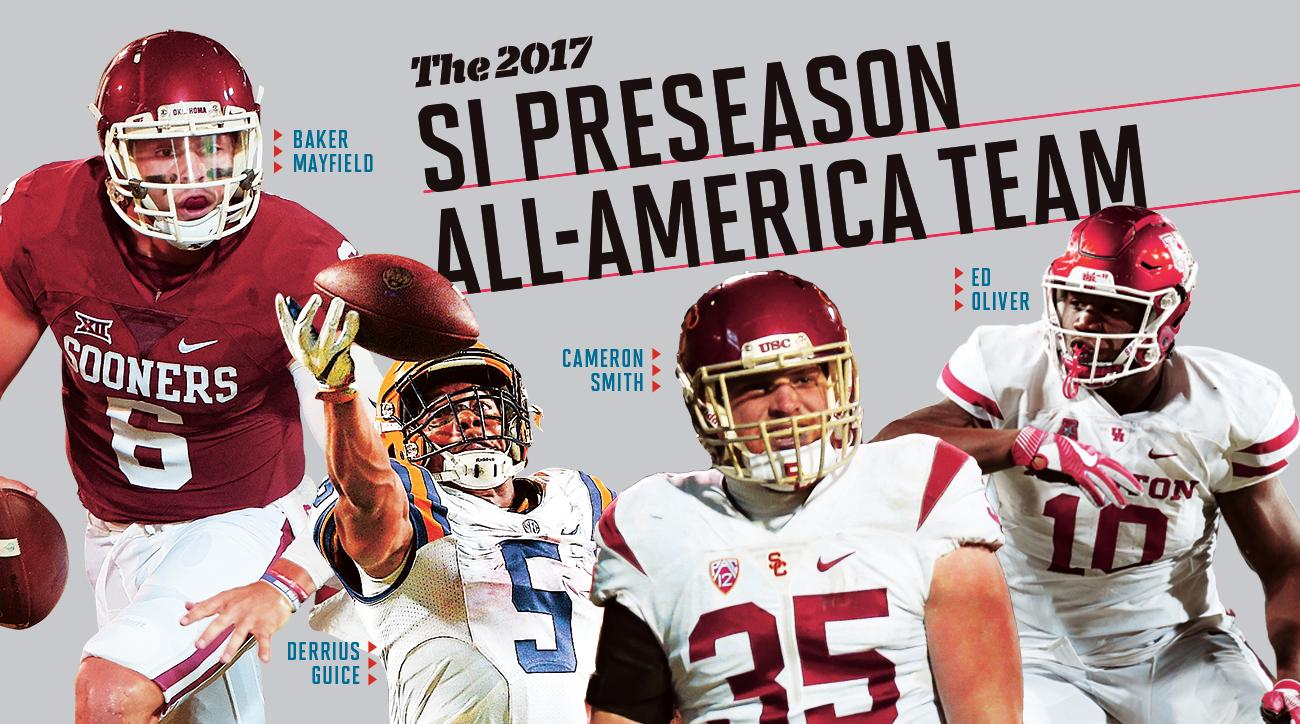 College football preseason All-America team 2017: SI gives Baker Mayfield, Derrius Guice nods