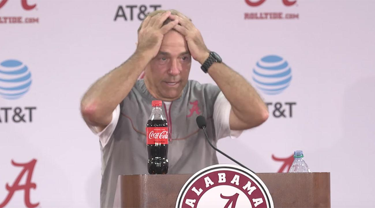 Nick Saban Unleashes Epic Rant on Reporters