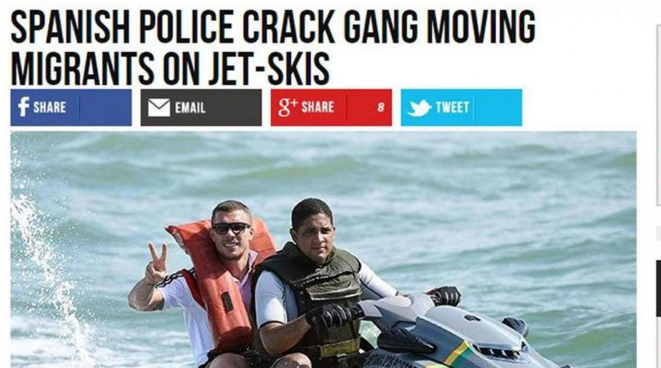 Breitbart uses image of footballer Lukas Podolski to illustrate story about migrants