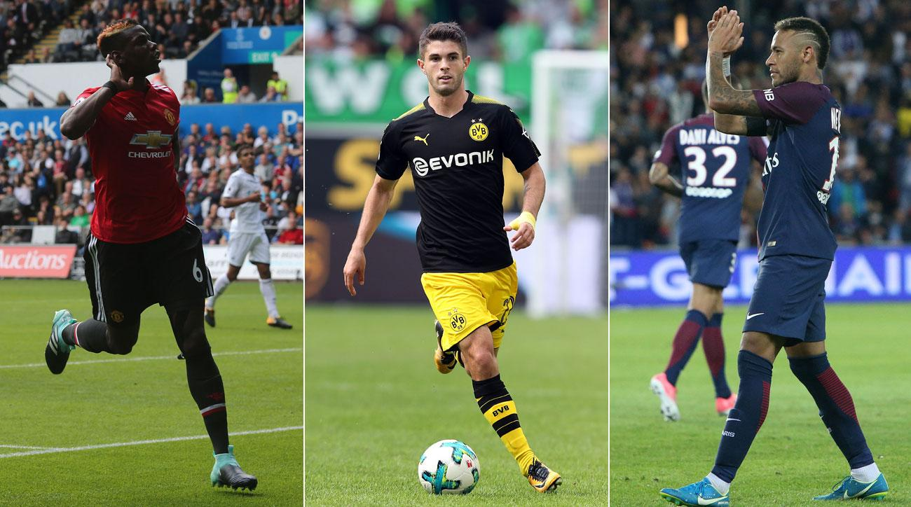 Paul Pogba, Christian Pulisic and Neymar each had standout weekends