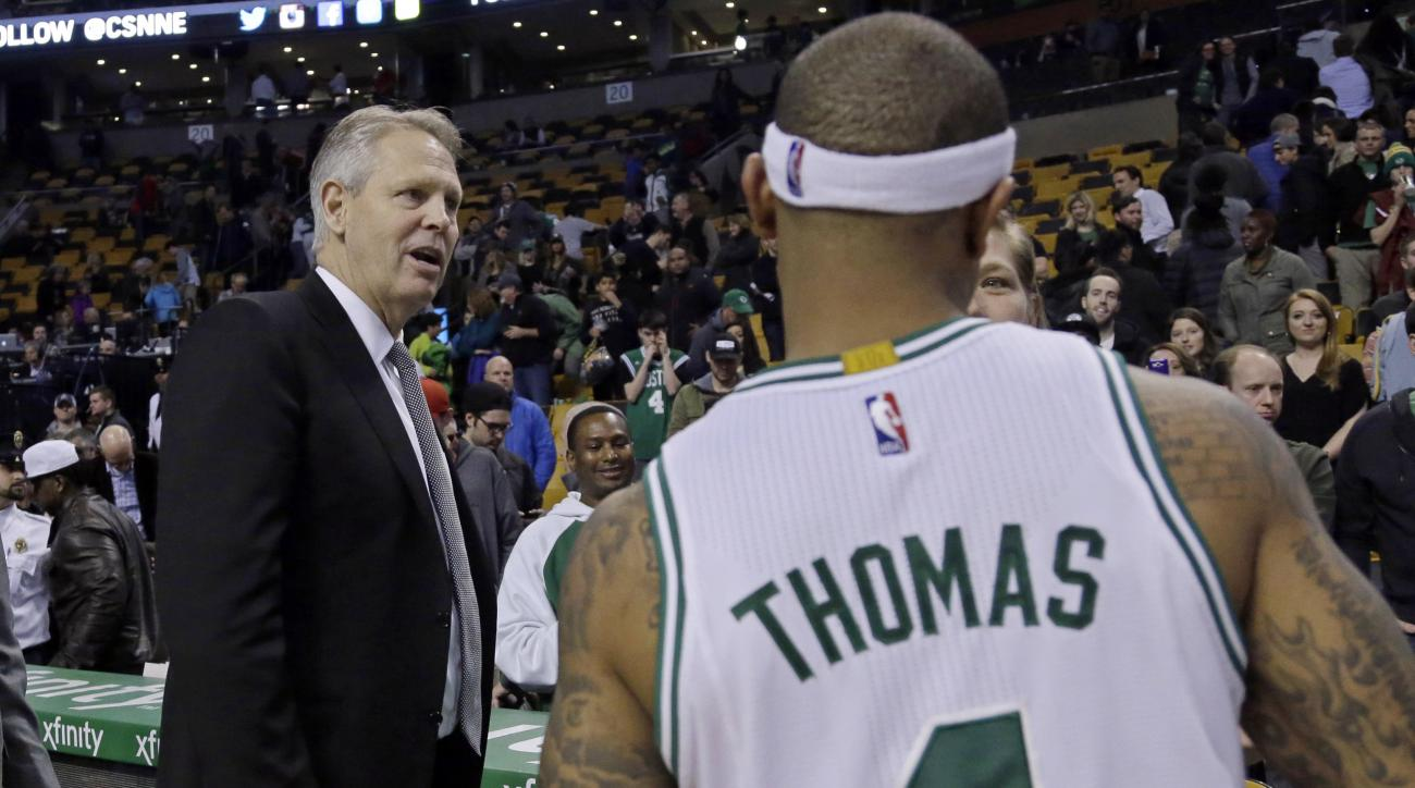 Danny Ainge Celtics GM says Thomas hip factored in trade