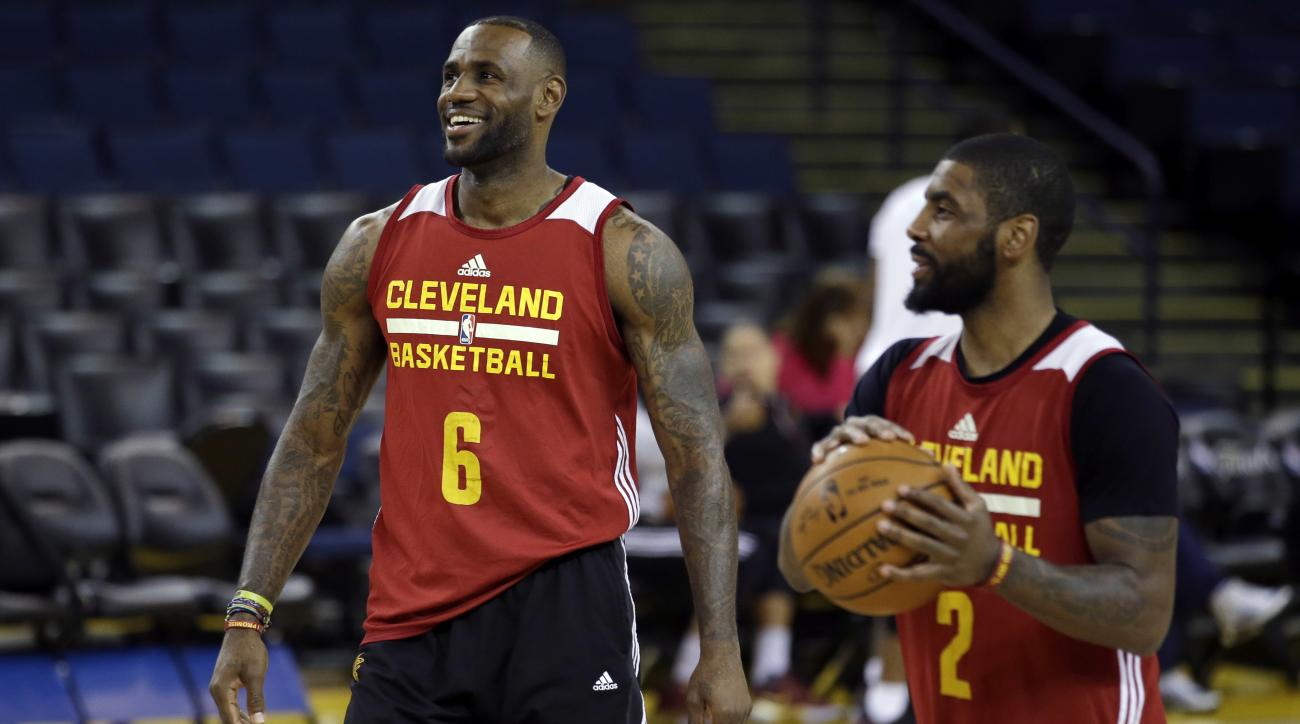 LeBron James reacted to the Kyrie Irving trade by retweeting a video in support of Irving.