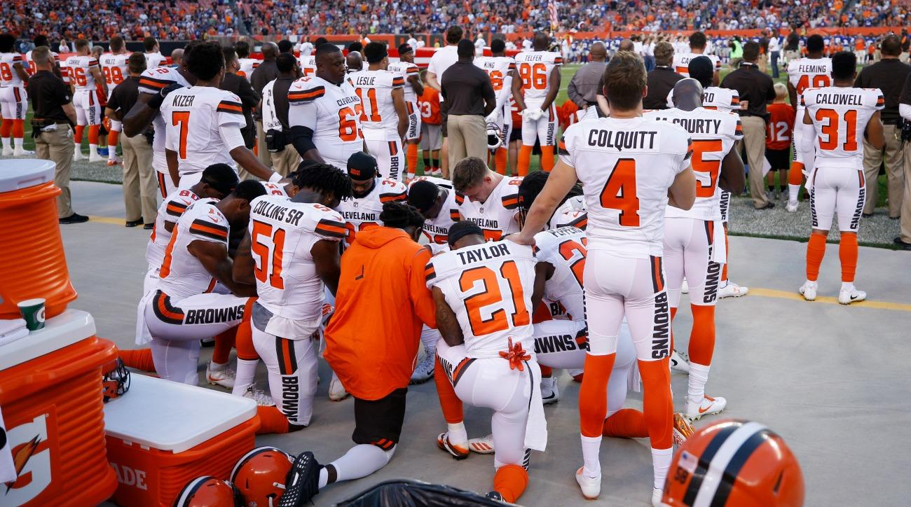 nfl players protest list