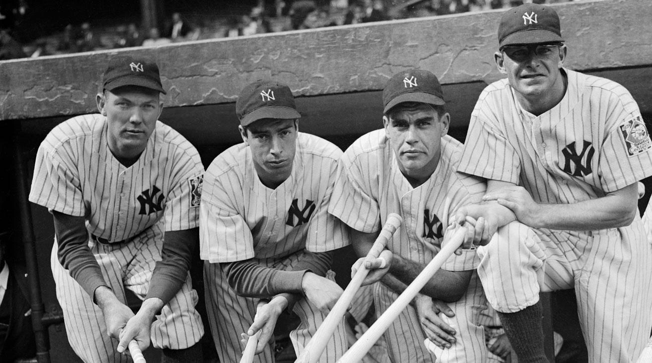 Bill Dickey, Joe DiMaggio, Charlie Keller, George Selkirk, New York Yankees