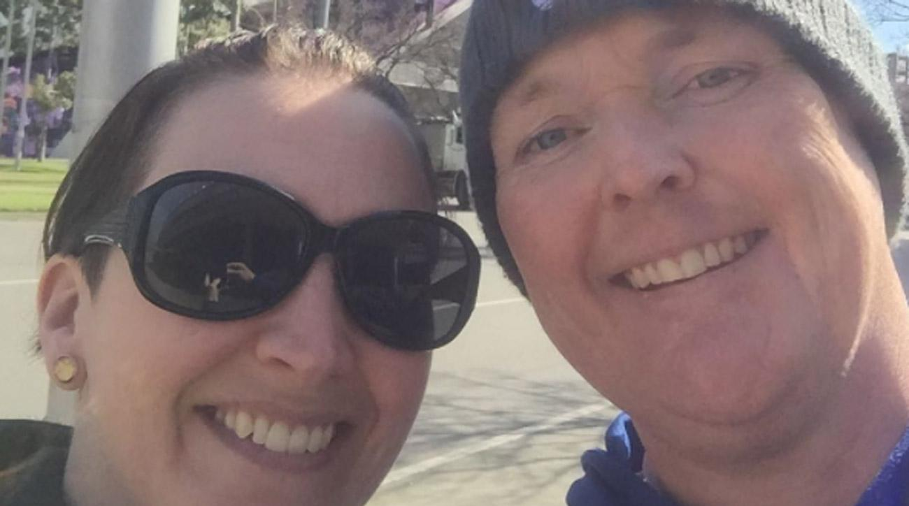 Jarrod Lyle posted this photo of him and his wife, Briony, on Instagram.