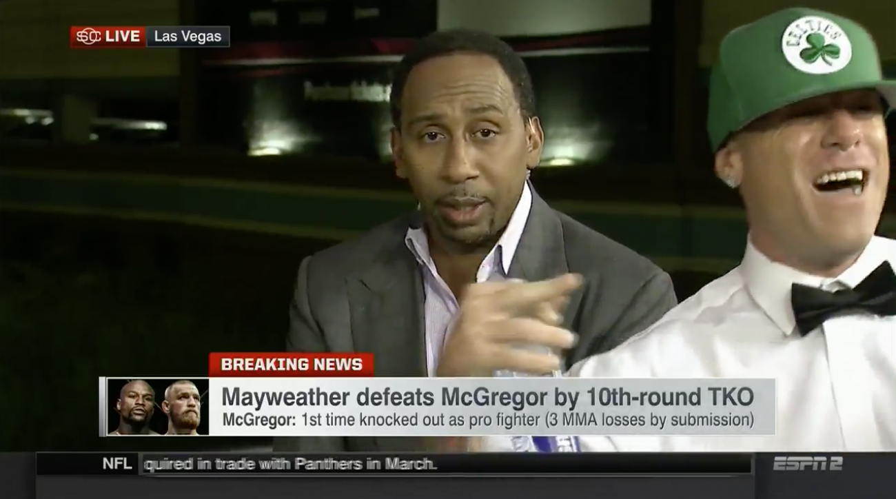 Mayweather-McGregor: Guy crashes ESPN set (video)