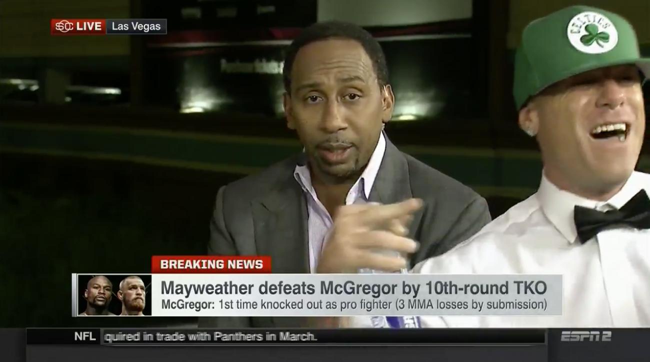 Mayweather-McGregor: Guy crashes ESPN set (video)