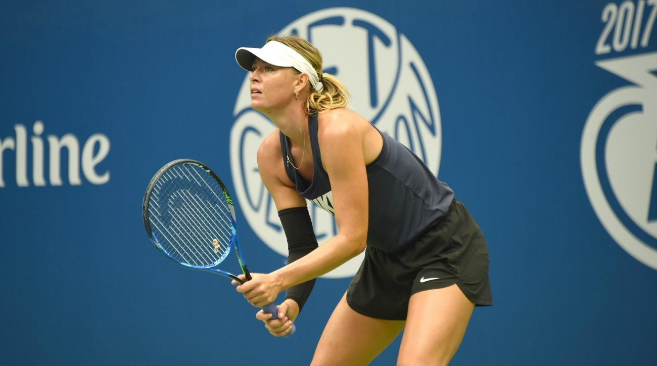 Image result for US Open: Maria Sharapova defeats number 2 player Simona Halep