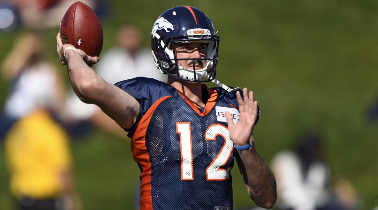 Broncos' QB depth chart on Thursday will have some quirks