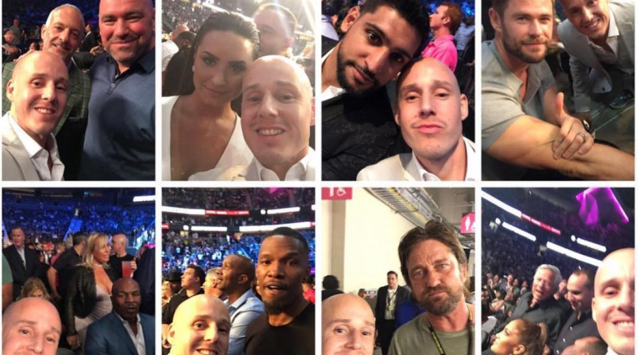 Fans sneak ringside at Mayweather-McGregor