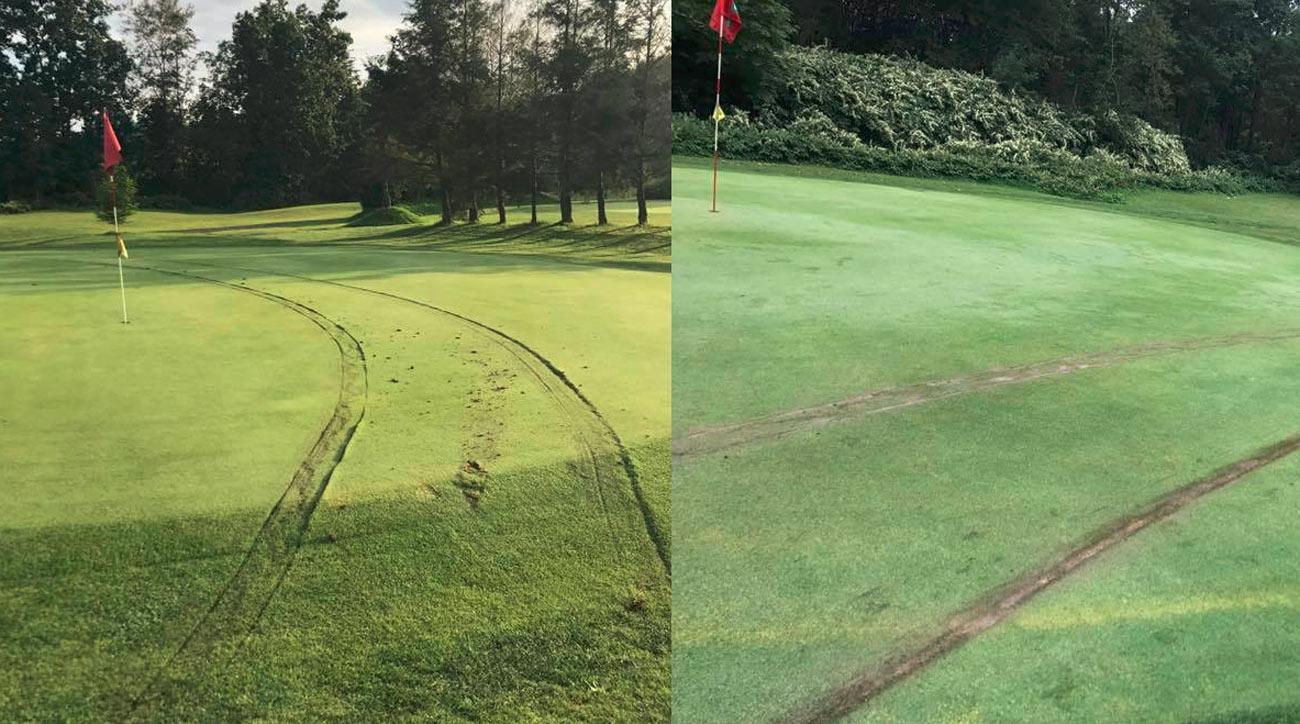 Photos of the damage at Golden Oak Golf Course.