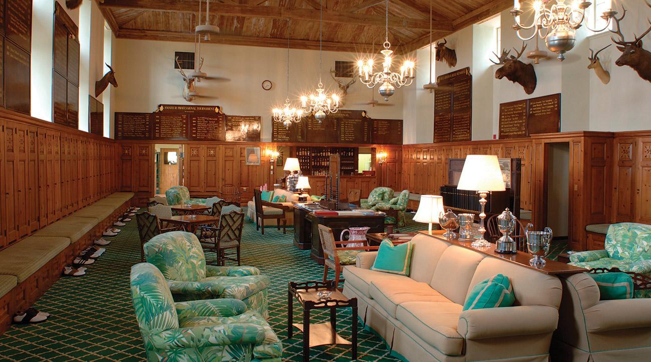 The locker room at Seminole Golf Club.