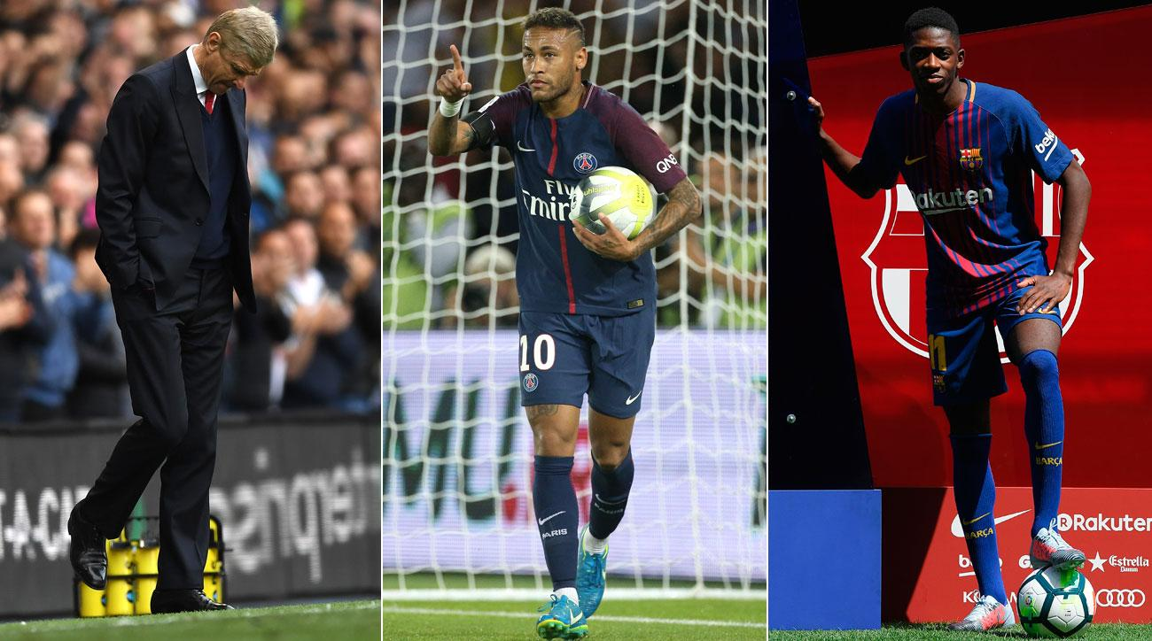 Arsenal, PSG and Barcelona factored heavily into the summer transfer window