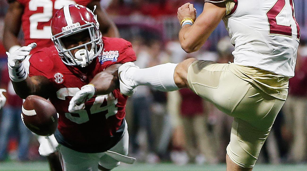 Alabama vs Florida State score, highlights: Damien Harris blocked punt, Deondre Francois injured key in Crimson Tide win