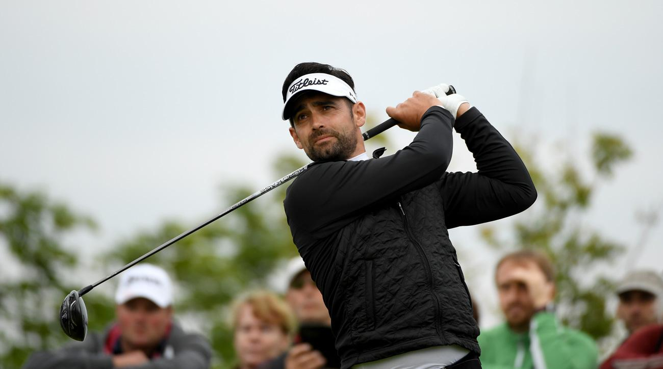 Lee Slattery of England on the 11th tee during the third round of the D+D REAL Czech Masters.