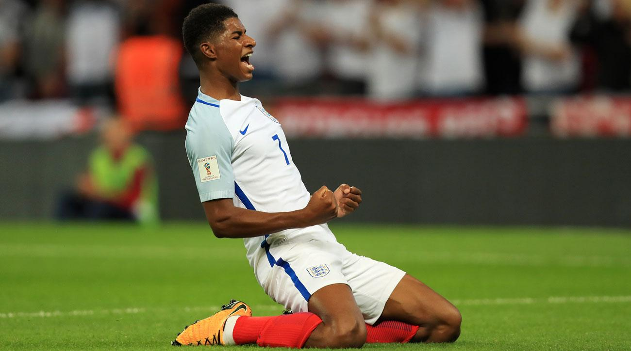 Marcus Rashford scored a great goal for England vs. Slovakia