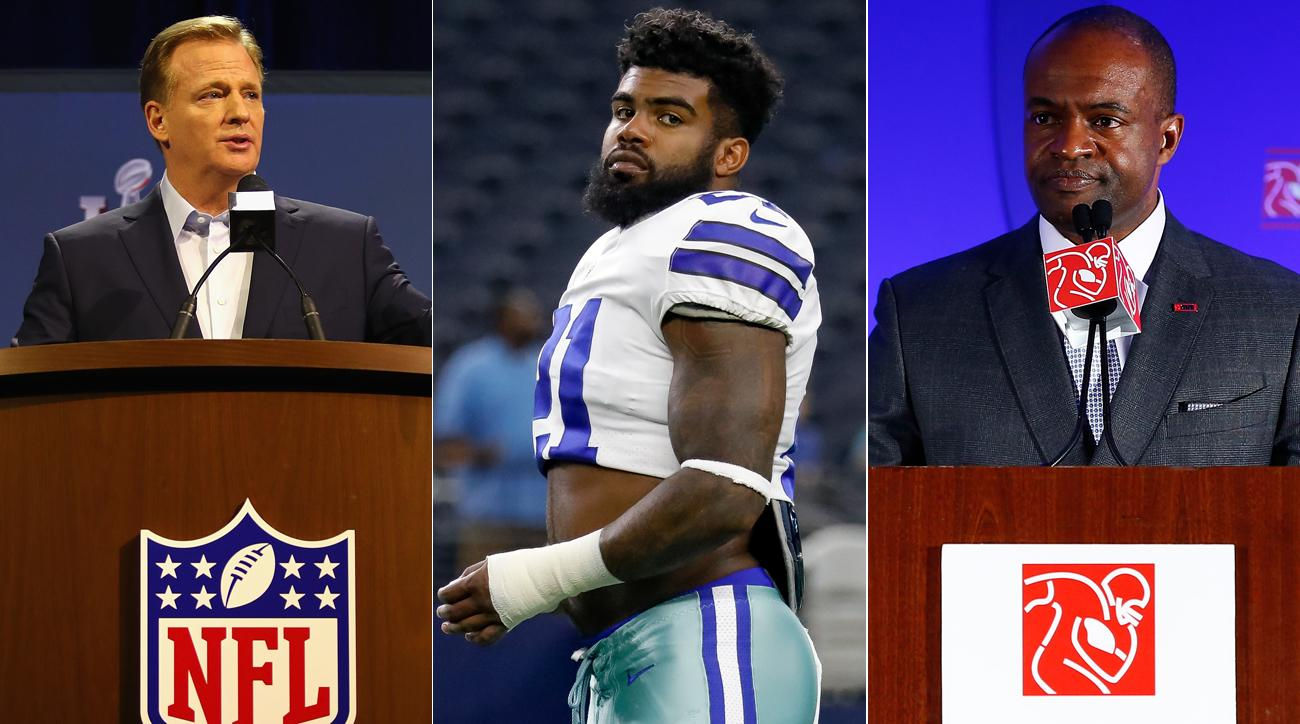 The NFL and the NFLPA do not see eye to eye on the issue of the Ezekiel Elliott suspension.