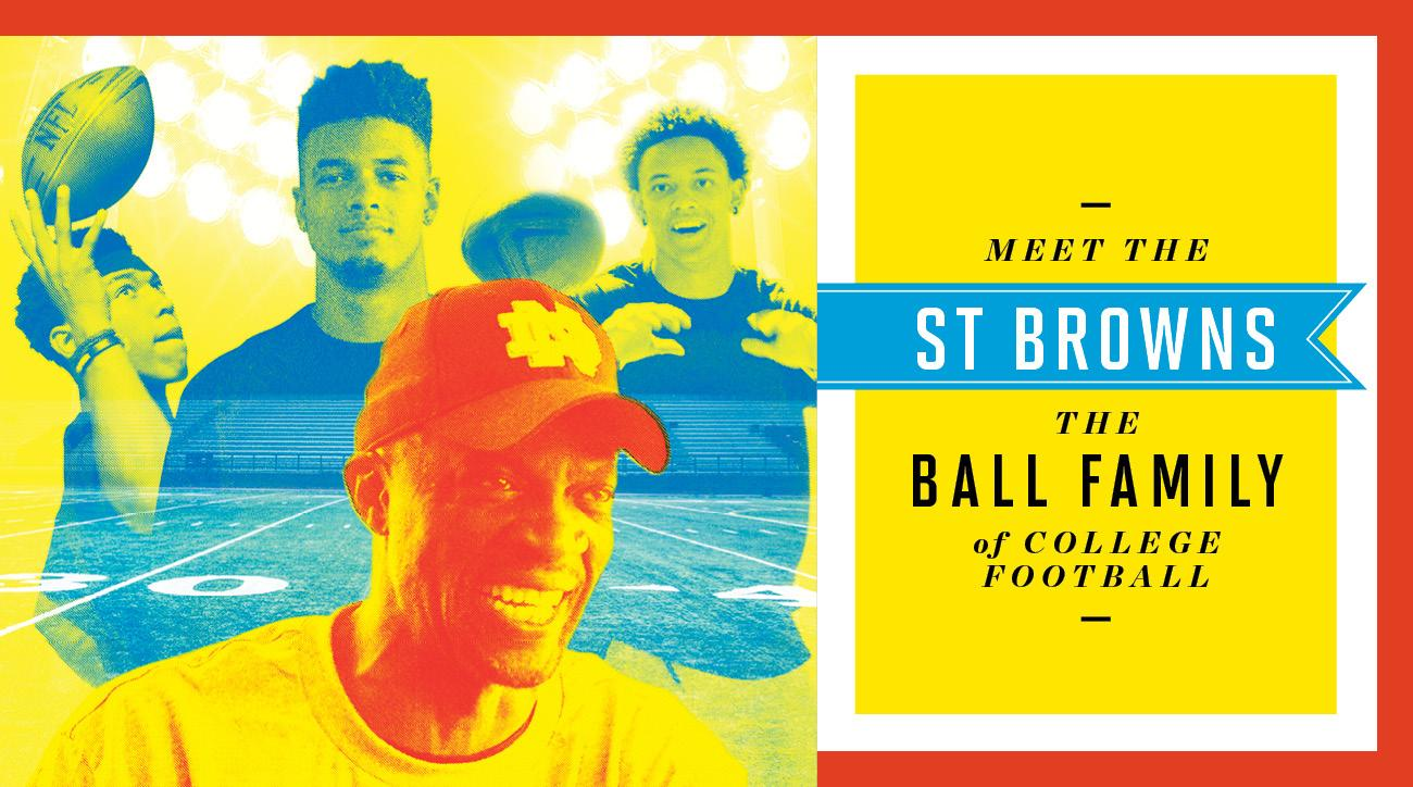 Equanimeous St. Brown's brothers and the Lavar Ball of college football