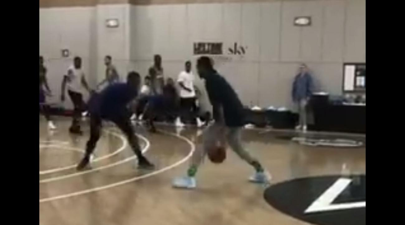 Carmelo Anthony, Russell Westbrook pick-up game