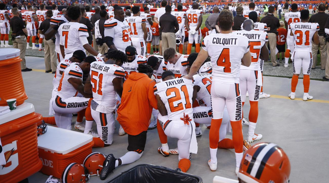 Browns to join police, military in pregame show of unity