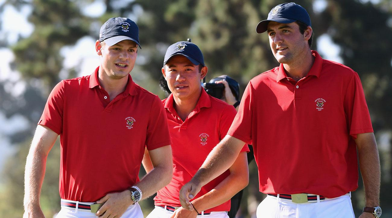 The United States Walker Cup team leads 8-4 after one day of the Walker Cup.