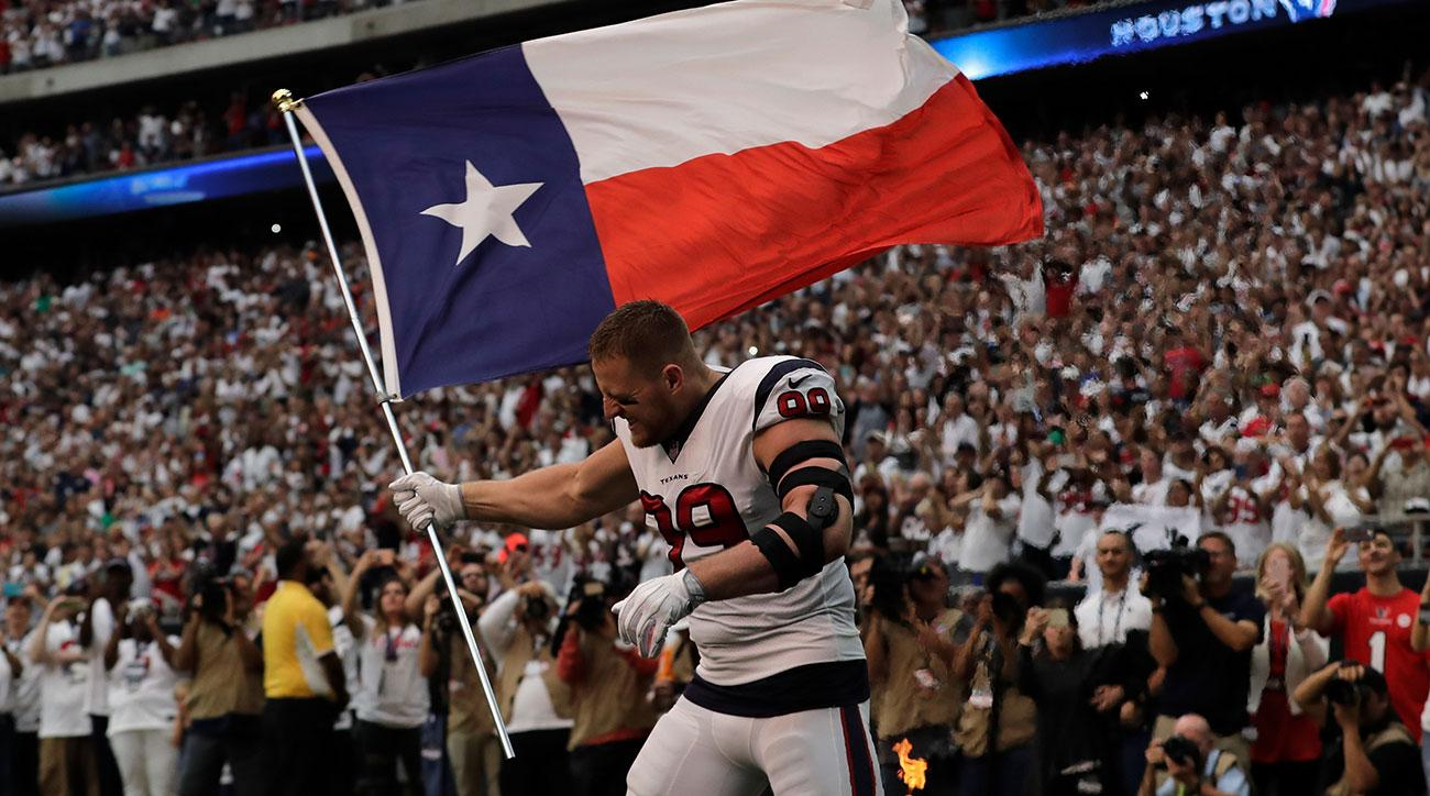 JJ Watt goes to locker room with injured finger vs. Jaguars