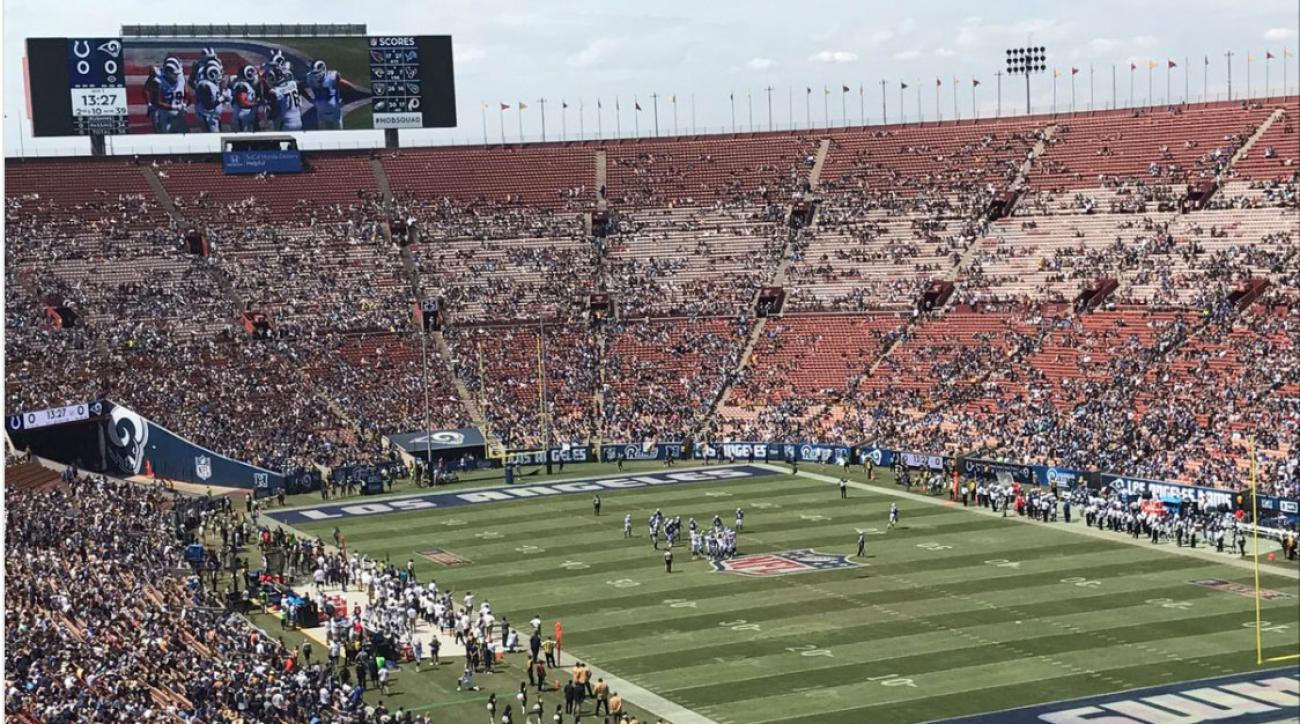 Image result for la rams empty stadium