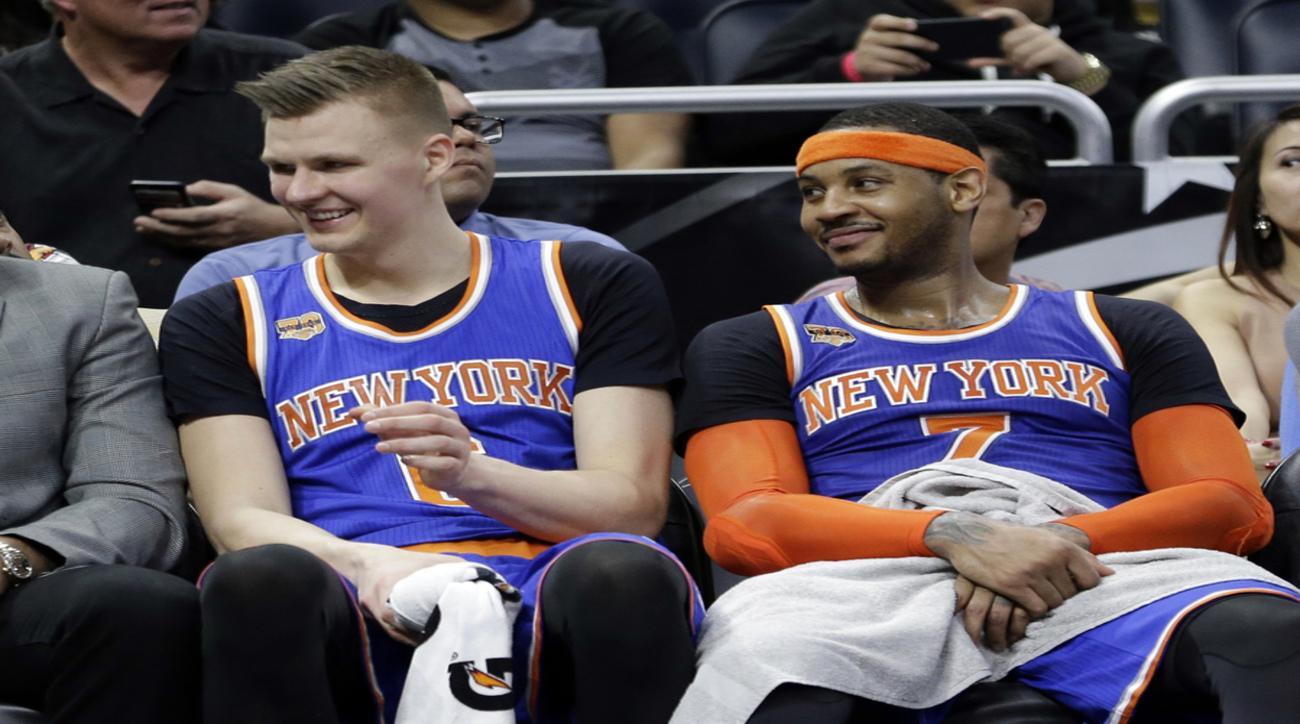 Porzingis beats Melo in Top 100Black Hole - Carmelo Anthony - Houston Rockets - Kristaps Porziņģis - New York Knicks