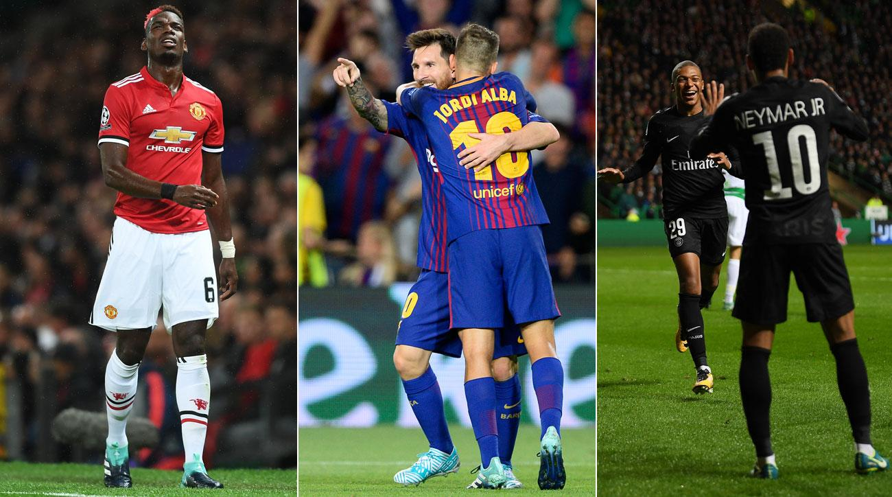 Manchester United, Barcelona, PSG all win in the Champions League