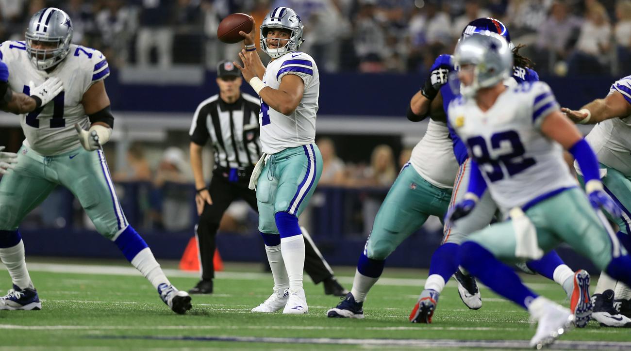 Dallas Cowboys quarterback Dak Prescott targets Jason Witten in Week 1.